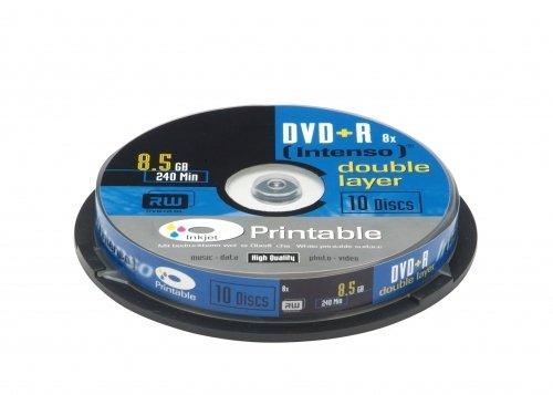 Intenso DVD+R Capacité 8,5 Go Double couche Vitesse 8x Imprimable Lot de 10 (Import Allemagne)