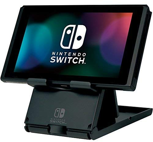 Officially licensed by Nintendo. The HORI Switch Compact PlayStand is the perfect solution for Switch players on the go! It allows you to charge your Switch at the same time as playing and the 3 angle settings allow for maximum comfort and ease of pl...