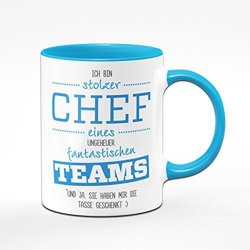 Tasse Stolzer Chef Eines Fantastischen Teams - Geschenke für Den Chef - Kaffetasse