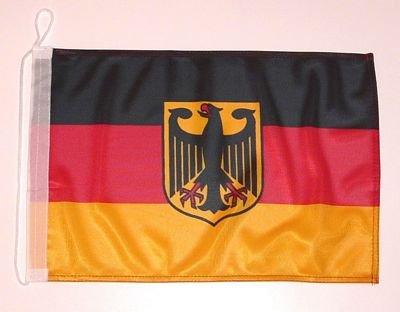 Bootsflagge Deutschland mit Adler 25 x 40 cm