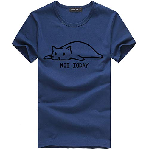 7c1c048c Womens Tops, Women Casual Letter Printed Cotton Short Sleeve Cute Funny Cat  T-Shirt
