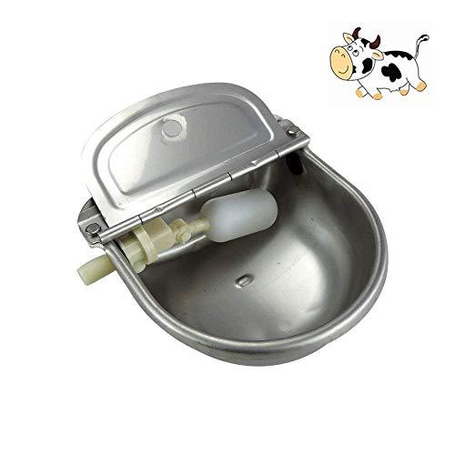 Automatische Wassernapf mit Scupper, Edelstahl Automatische Waterer Bowl Pferdevieh Ziege Schaf Schwein Hund Float Ventil Wasser Trog Farm Supplies -