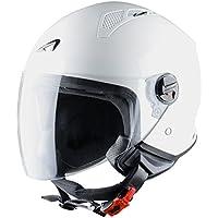 Astone Helmets Mini Jet Army Casco Jet, color Blanco Brillante, talla S