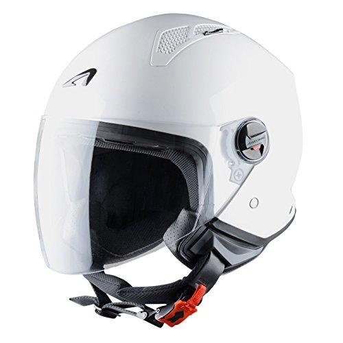 Astone Helmets Mini Jet Army Casco Jet, color Blanco Brillante, talla M