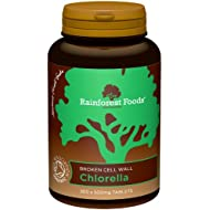 Rainforest Foods Organic Broken Cell Wall Chlorella Tablets 500mg Pack of 300