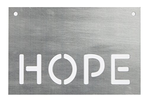 P. Graham Dunn Hope Stahl Metall Look 15x 10Holz Schablone Wandschild (Schablonen Für Wand-plaques)