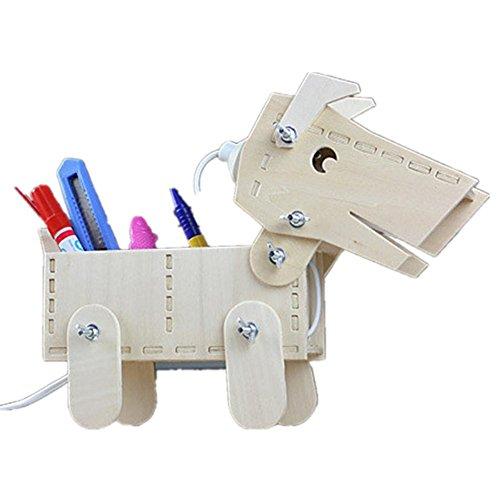 FWEF in legno cucciolo personalizzato scultura modello soggiorno camera da letto camera da letto lampada studio / Storage Box semplice moderno luce incandescente di notte 28 * 26 * 11 cm