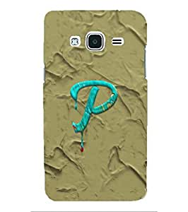 YuBingo Samsung Galaxy J2 (6) 2016 J210F :: Samsung Galaxy J2 Pro (2016) Designer Phone Back Case Cover ( Monogram with Beautifully Written Paint Finish letter P )