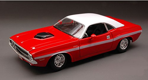 dodge-challenger-r-t-coupe-1970-red-white-124-maisto-auto-stradali-modello-modellino-die-cast