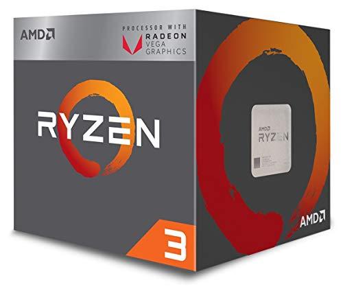 Amd Ryzen Delete 3 2200G con Tecnologia Radeon Delete Rx Vega 8, S Am4, Quad Core, 4 Thread, 3.5 Ghz, Turbo da 3.7 Ghz, 4 MB, 65 W, Cpu
