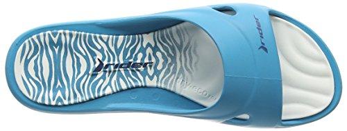 Rider Slide Feet Damen Offene Sandalen Mehrfarbig (blue white 8382)