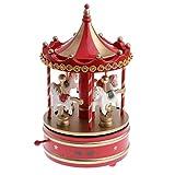Backbayia Karussell Spieldose Wind-up Musikbox Spieluhren Weihnachten Cafés Buchladen Wohnzimmer Deko