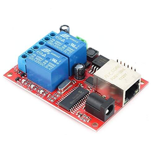 LAN Ethernet 2-Wege-Relaiskarten-Verzögerungsschalter TCP/UDP-Controller-Modul WEB-Server-Elektronik-Kit-Platine