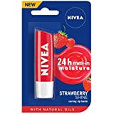 NIVEA Lip Balm, Strawberry Shine, 4.8g