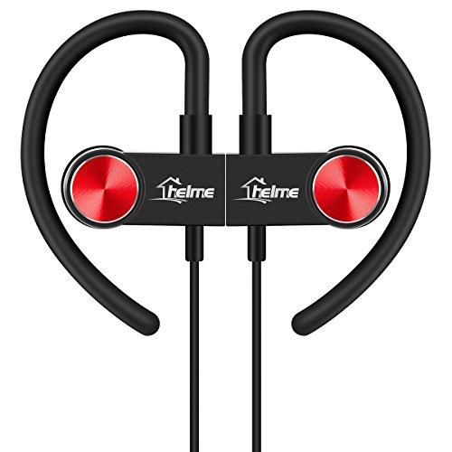 Bluetooth Kopfhörer kabellos headphone In Ear 4.1 magnetische Headset AptX IPX5 wireless Wasserschutz Sport stereo mit Mikrofon für iPhone 6 6S Plus 5S 5 5C Galaxy S6 S7 Edge S5 S4 Mini Helme (Black) (Sein Und Ihrs Magnetische Armband)