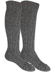 Lot de 3 paires de chaussettes hautes pour homme - semelle épaisse en peluche - gris anthracite