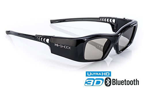 Hi-SHOCK 3D-BT Pro 'Black Diamond' | Smart Active 3D Brille für 4K / HDR / HD 3D TV's von Sony,...