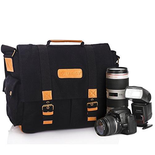 TARION TB-01 Fototasche für SLR Kameras Digitalkamera Objektive Blitzgeräte und Zubehör (Innenmaß: ca.30 x 13 x 20 cm) - Schwarz