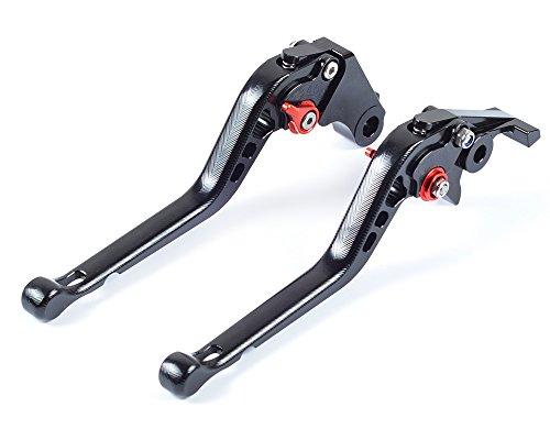3D Lang Bremshebel Kupplungshebel 6-Fach Verstellbar für HONDA CBR250R 2011-2013,CBR300R 2014-2016,CB300F/FA 2014-2016,CB400F/CB400R 2013-2015,GROM MSX 2014-2017 (2014 Honda Grom)