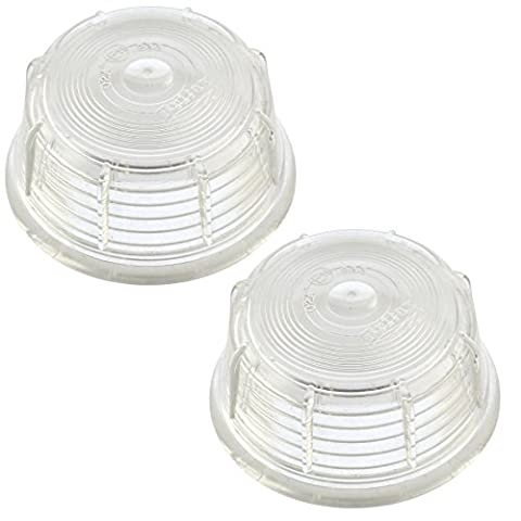 Britax Side Marker Replacement Lens WHITE Outline Light Lamp PAIR TR202