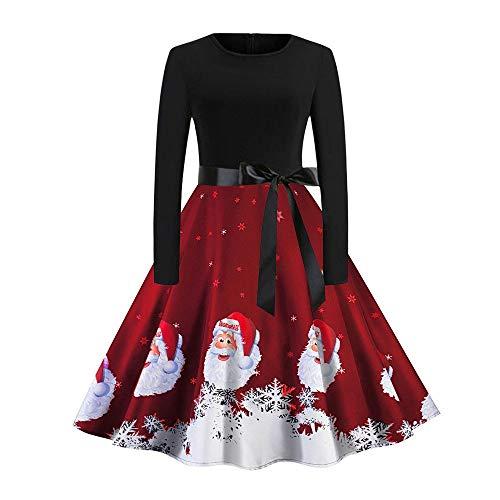 Riou Weihnachten Ballkleider Lang Prinzessin Damen Partykleider Elegant Retro Grosse Grössen Sexy...