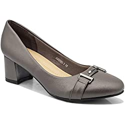 tresmode Women's Grey Pumps