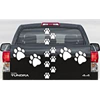 Terra Nomade 32 White PAW PRINT STICKERS/Wall Stickers Decals Graphics Cat Dog