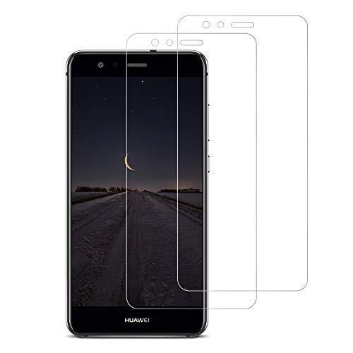 Snnisttek [2 Unidades] Protector de Pantalla Huawei P10 Lite, 9H Dureza Cristal Vidrio Templado para Huawei P10 Lite, 0.33mm Ultra Transparencia HD, 3D Touch Compatibles, Instalación Fácil