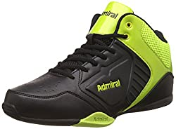 Admiral Mens Karl Black Citron Basketball Shoes - 7 UK/India (40.5 EU)(11-20017)