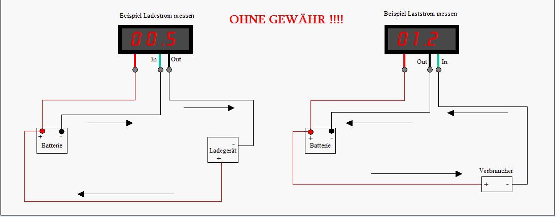 Digital LED Amperemeter AMP Panel Meter Strommesser Ammeter DC0-10A ...