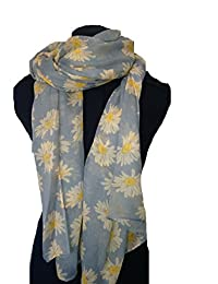 Light grey daisy scarf Lovely soft scarf
