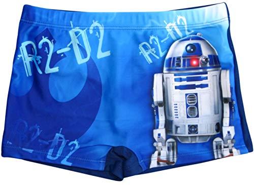 Star Wars Badeshorts R2D2 Jungen Badehose (Blau, 116-122)