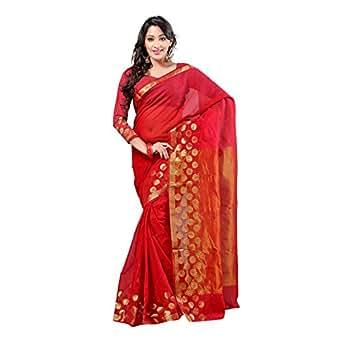 Rajnandini Cotton Saree (Joplsrs1001_Red)