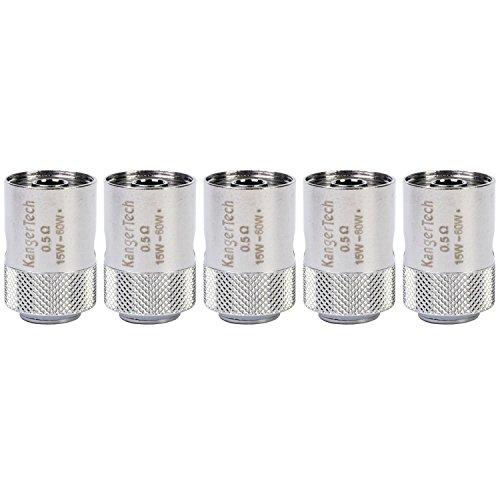KangerTech 0,5 Ohm Edelstahl Clocc Ersatzspulen SS316L (Packung von 5) Enthält Kein Nikotin