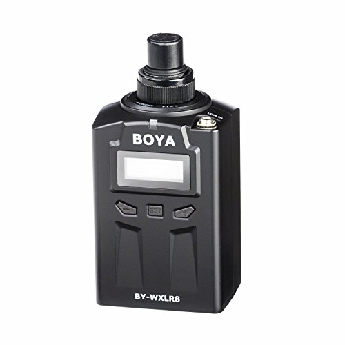BOYA BY-WXLR8 Plug-on Transmisor de audio XLR con pantalla LCD para BY