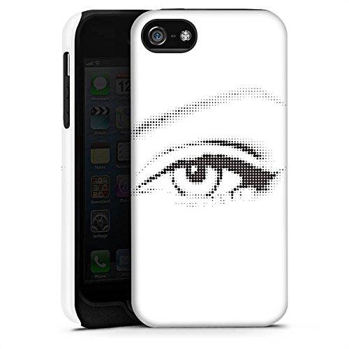 Apple iPhone 5s Housse Étui Protection Coque ¼il ¼il Graphique Cas Tough terne
