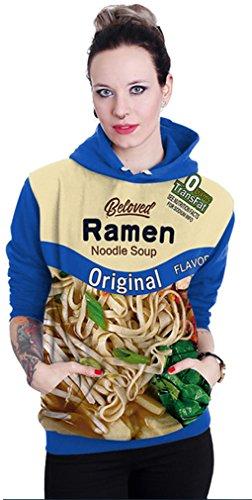 Belsen unisex Kapuzenpullover Sweatshirts Liebhaber Valentine Set ramen blue
