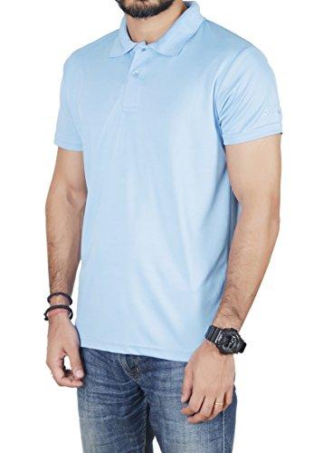 Lotto Men's Plain Regular Fit T-Shirt (CR910292-296_Sky Blue_X-Large)