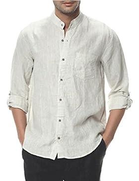 Najia Symbol -  Camicia Casual  - Basic - Maniche a 3/4 - Uomo