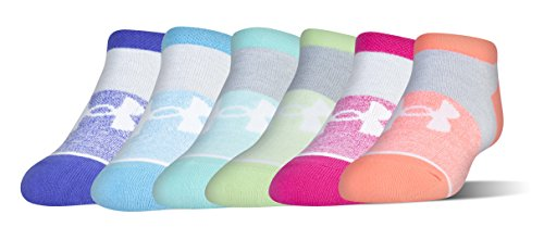 Under Armour Girls Essential No Show Socks (6 Pack)