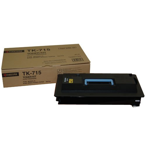 Get Kyocera Toner Cartridge TK-715 K – BLACK – 34.000 Pages  Ultra High Capacity Genuine Premium Printer Toner – 1T02GR0EU0 – 0T2GR0EU – for KM-3050 / KM-4050 / KM-5050 Reviews