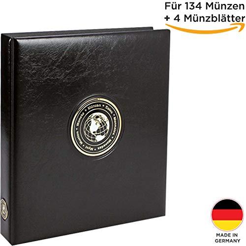 ammelalbum Aller Länder + 4 Münzblätter- Universal Münzsammelalbum für die Aufbewahrung Deiner Coin Collection ()