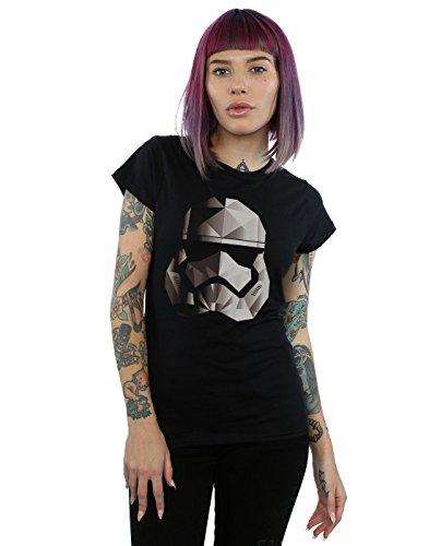 Star Wars Damen The Last Jedi Stormtrooper Mono Cubist Helmet T-Shirt Medium Schwarz