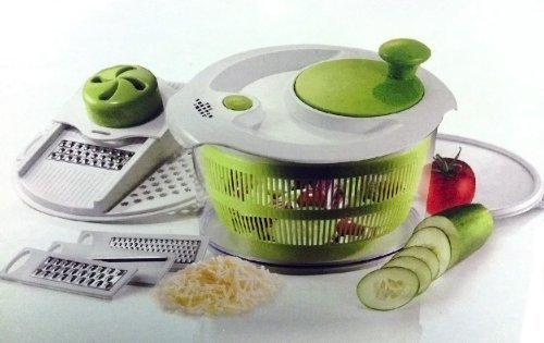 the-sharper-image-salad-spinner-mandoline-slicer-4-in-1-spin-slice-serve-store-by-sharper-image