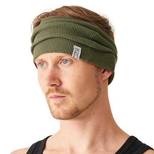 CHARM Casualbox | Herren Weite Stirnband 100% Baumwolle -
