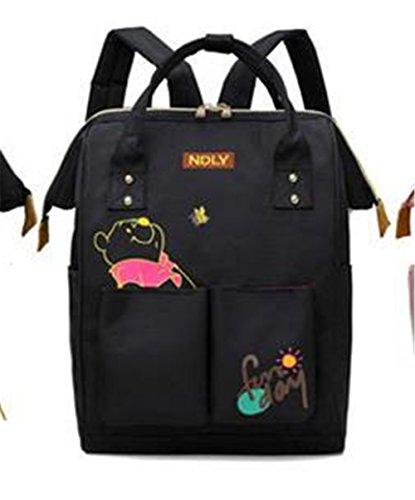 FONKIC Gedruckter Schulrucksack-beiläufiger Wasserdichter Schultasche für Studenten-Highschool,Bear