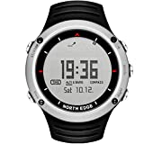 Neckip North Edge Digital-Armbanduhr für Klettern, Wandern, Sport-Uhr mit Kompass, Höhenmesser, Barometer, Thermometer, Armbanduhr für Herren