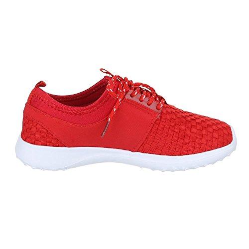 Ital-Design , Baskets pour femme Rouge