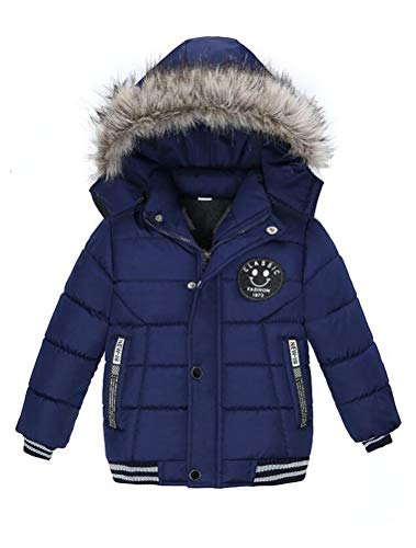 ARAUS Blouson Manteau Fourrure Chaud Enfant Garçon Bébé Ski Vêtement Doudoune à Capuche Veste à Manches Longues Chaud 1-5 Ans