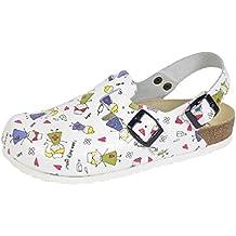 Wörishofer Clog m. Fersenriemen 41610 - Zapatos con hebilla de cuero para mujer